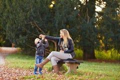 mother playing son together Στοκ φωτογραφία με δικαίωμα ελεύθερης χρήσης