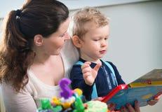 mother playing son together Στοκ Εικόνες