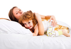 Mother playing with toddler royalty free stock photo