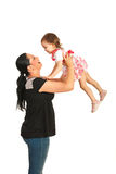 Mother playing with toddler girl Stock Photos