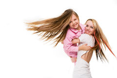 Mother playingwith daughter Royalty Free Stock Photography