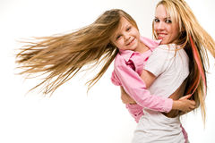 Mother playingwith daughter Stock Photography