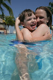 mother pool son Στοκ φωτογραφία με δικαίωμα ελεύθερης χρήσης