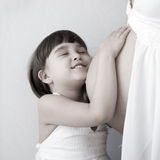 Mother pregnancy and child Stock Images