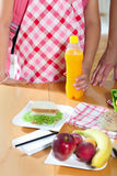 Mother preparing healthy lunch box for child Royalty Free Stock Photo