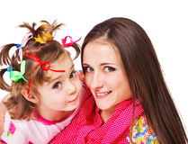 Mother and preschool girl Stock Photos