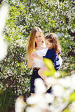Mother and pretty toddler Stock Photography