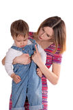 Mother punishes the child Royalty Free Stock Images