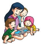 Mother Reading Book Together Royalty Free Stock Photography
