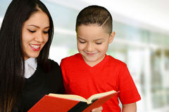 Mother reading to her child Stock Image