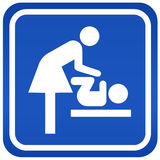 Mother restroom sign Stock Photo