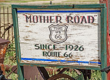 Mother Road Sign Royalty Free Stock Images