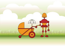 Mother robot Royalty Free Stock Images