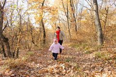 Mother Running After Daughter Royalty Free Stock Image