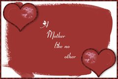 Mother's Card. Computer generated. This is a card for Mother's Day Royalty Free Stock Image