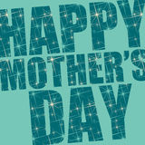 Mother's day. Happy mother's day wishes in blue Stock Images