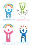 Mother's day. A set of signs and symbols for Mother's Day Stock Photos