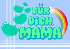 Mothers day greeting card in german Stock Images