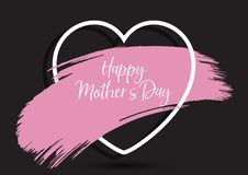 Mother`s Day background with grunge paint stroke in heart. Mother`s Day background with a grunge paint stroke in heart stock illustration