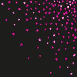 Mothers day background with pink glitter confetti. Isolated hear. Mother`s day background with pink glitter confetti. Isolated heart symbol in rose color Stock Images
