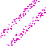 Mothers day background with pink glitter confetti. Isolated hear. Mother`s day background with pink glitter confetti. Isolated heart symbol in rose color royalty free illustration