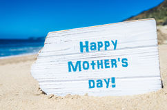 Mother`s day background,on the sandy beach Royalty Free Stock Photography