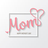 Mother's day background. vector royalty free illustration