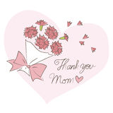 Mother's day, bouquet of carnations Royalty Free Stock Image