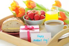 Mother's day breakfast Stock Image