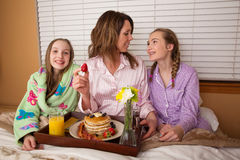 Mother's Day Breakfast In Bed Royalty Free Stock Photography