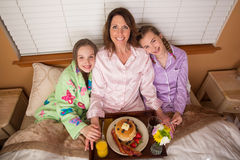 Mother's Day Breakfast In Bed Stock Photo