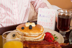 Mother's Day Breakfast In Bed Royalty Free Stock Images