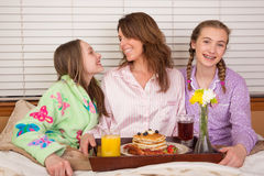 Mother's Day Breakfast In Bed Stock Photography