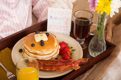 Mother's Day Breakfast In Bed Royalty Free Stock Photo