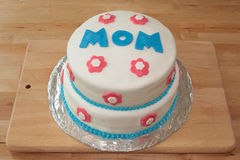 Mother's day cake Royalty Free Stock Photo
