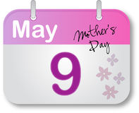 Mother's Day Calendar Page Royalty Free Stock Photos