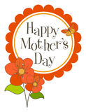 Mother's Day card. A Happy Mother's Day greeting card Royalty Free Stock Photo