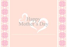 Mother's Day Card. With curve shape pattern in the sides vector illustration