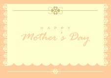 Mother's Day Card Royalty Free Stock Photos