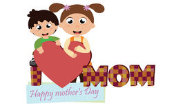 Mother`s day. Card Royalty Free Stock Photo