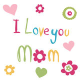 Mother's Day Card Royalty Free Stock Images