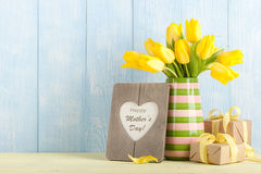 Mother`s day card. Copy space Royalty Free Stock Photography