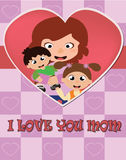 Mother`s day card. EPS file available Royalty Free Stock Photo