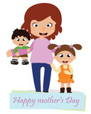 Mother`s day card. EPS file available Royalty Free Stock Image