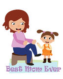 Mother`s day card. EPS file available Royalty Free Stock Images
