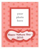 Mother's Day card for girls Stock Images