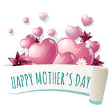Mother`s day card Royalty Free Stock Photography