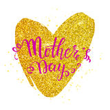 Mother s day card with heart Stock Photo