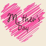 Mother`s Day card Stock Images