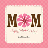 Mother's Day Card/Poster Royalty Free Stock Photos